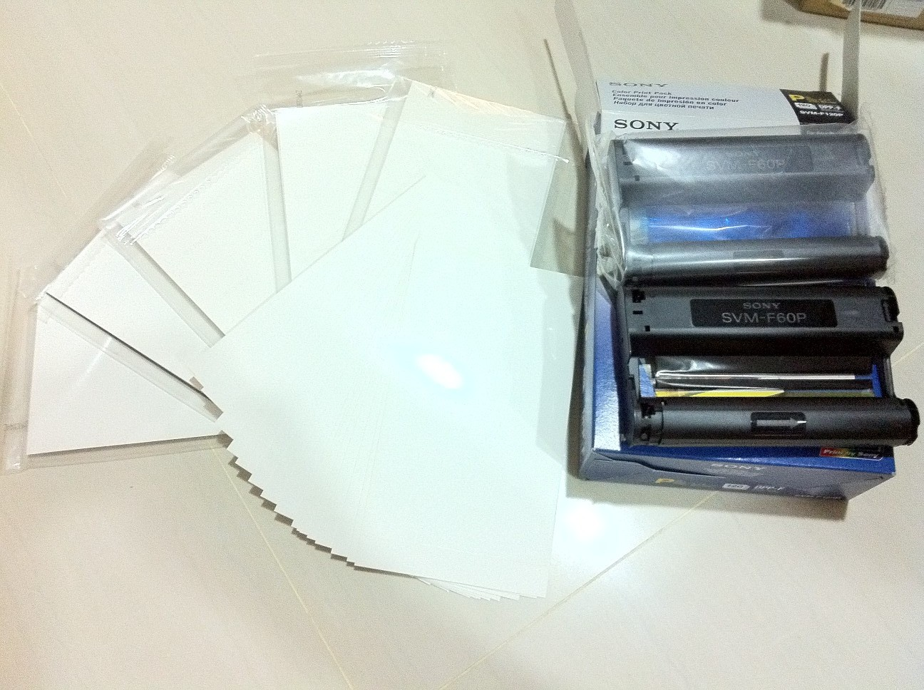 Wts Svm F120p Sony Print Paper And Cartridge For Dpp Fp