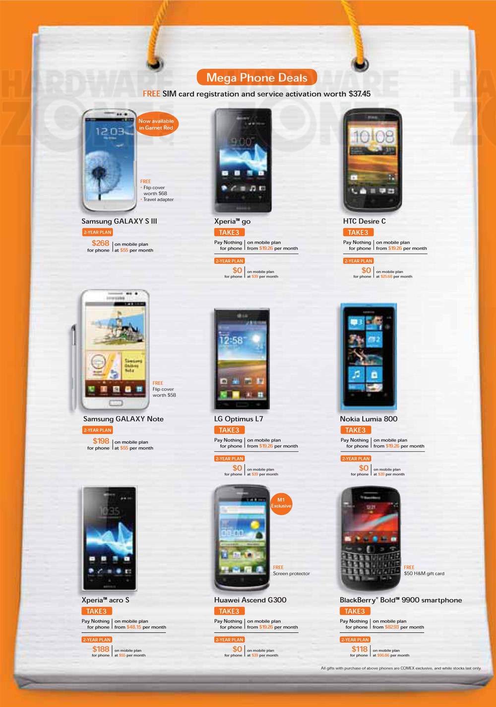 Mobile Phone Deals M1 Singtel Amp Starhub Comex 2012 Telco Tablets Gps And Mobile
