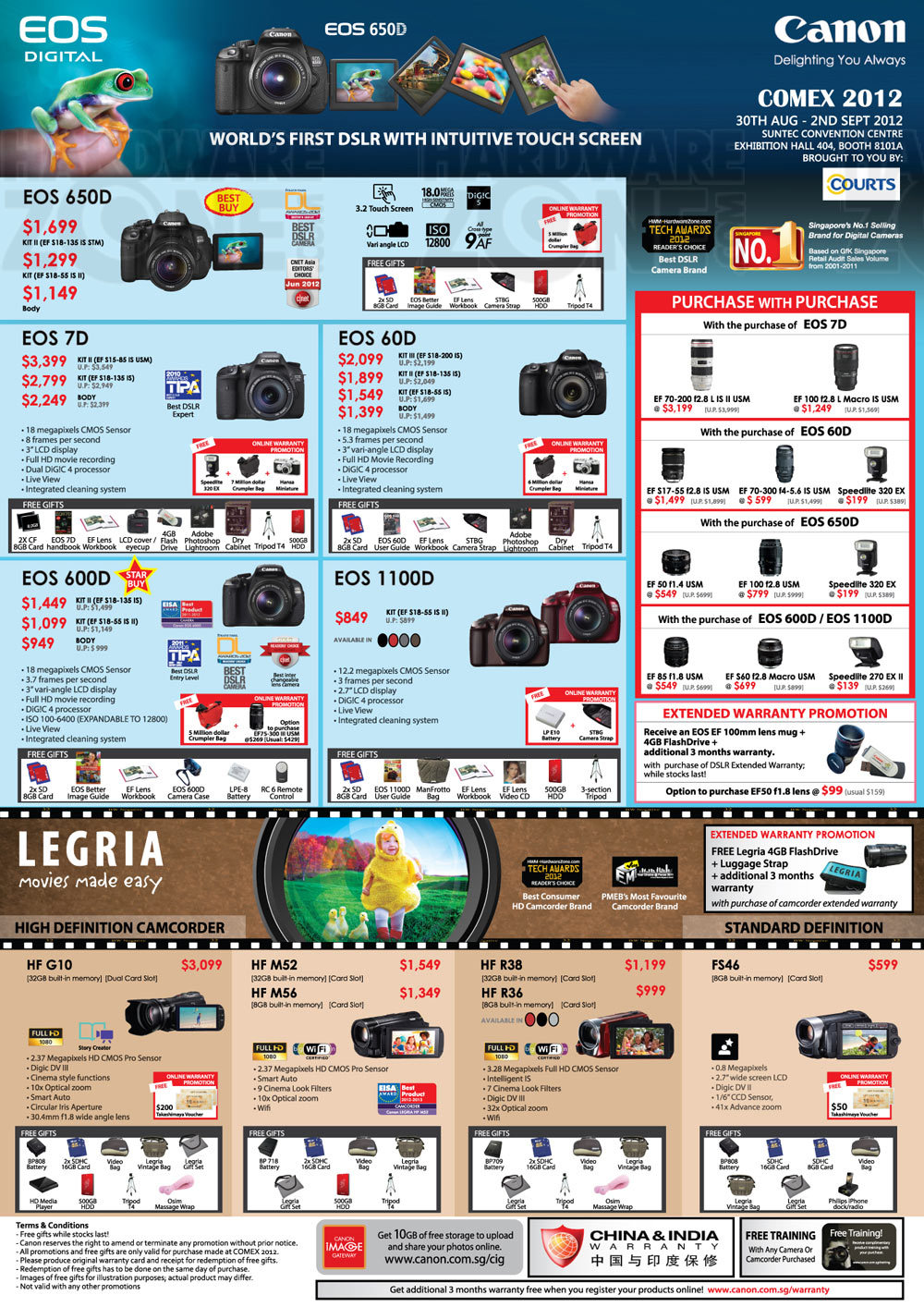 Canon DSLRs and Camcorders