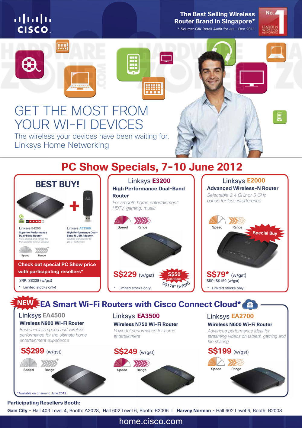 Networking - Aztech & Cisco : PC Show 2012 - Notebooks, PC Systems