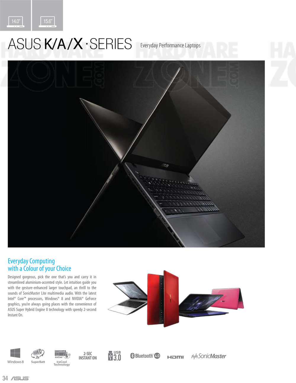 ASUS K/A/X-series notebooks - page 1