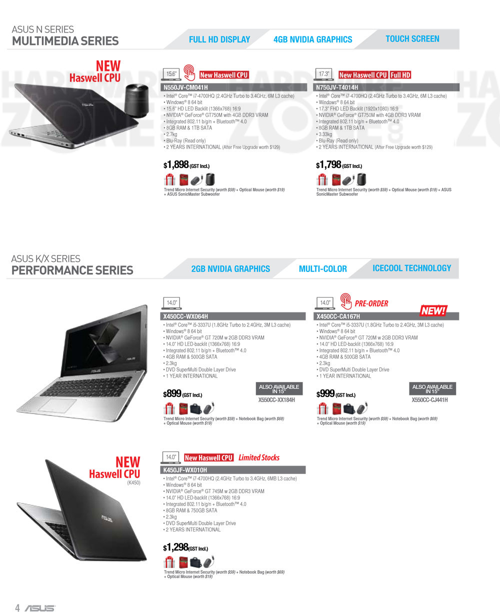 ASUS Notebooks - page 3