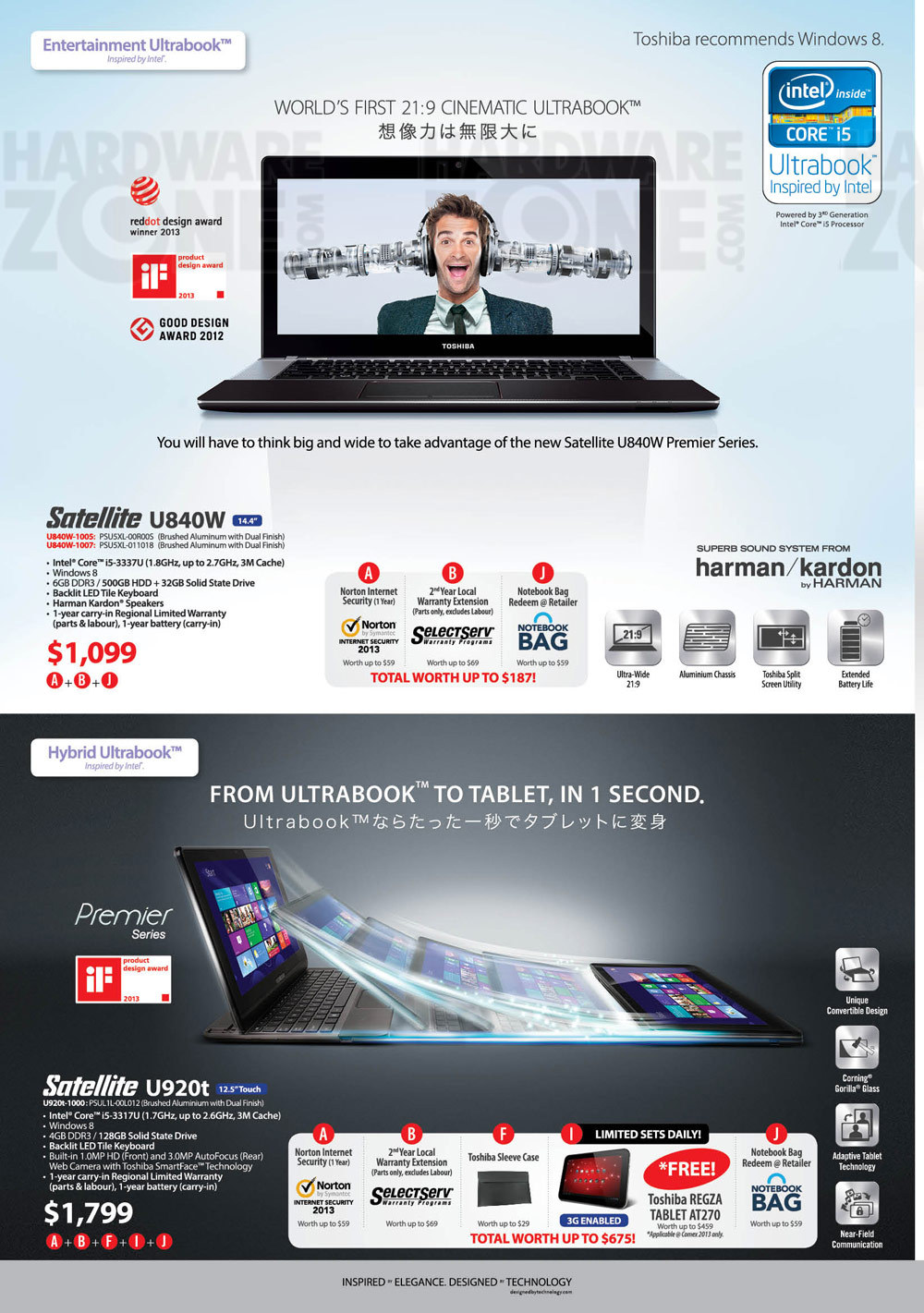 Toshiba notebooks - page 1