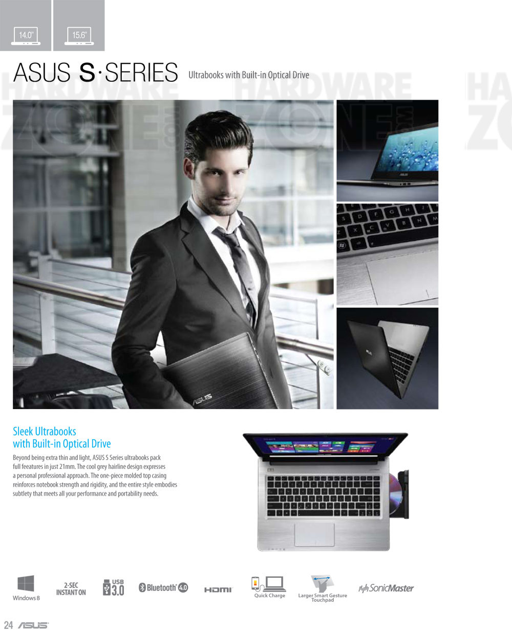 ASUS S-series notebook - page 1