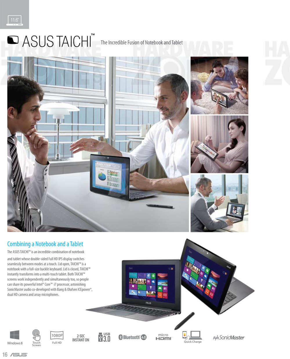 ASUS Taichi notebook - page 1