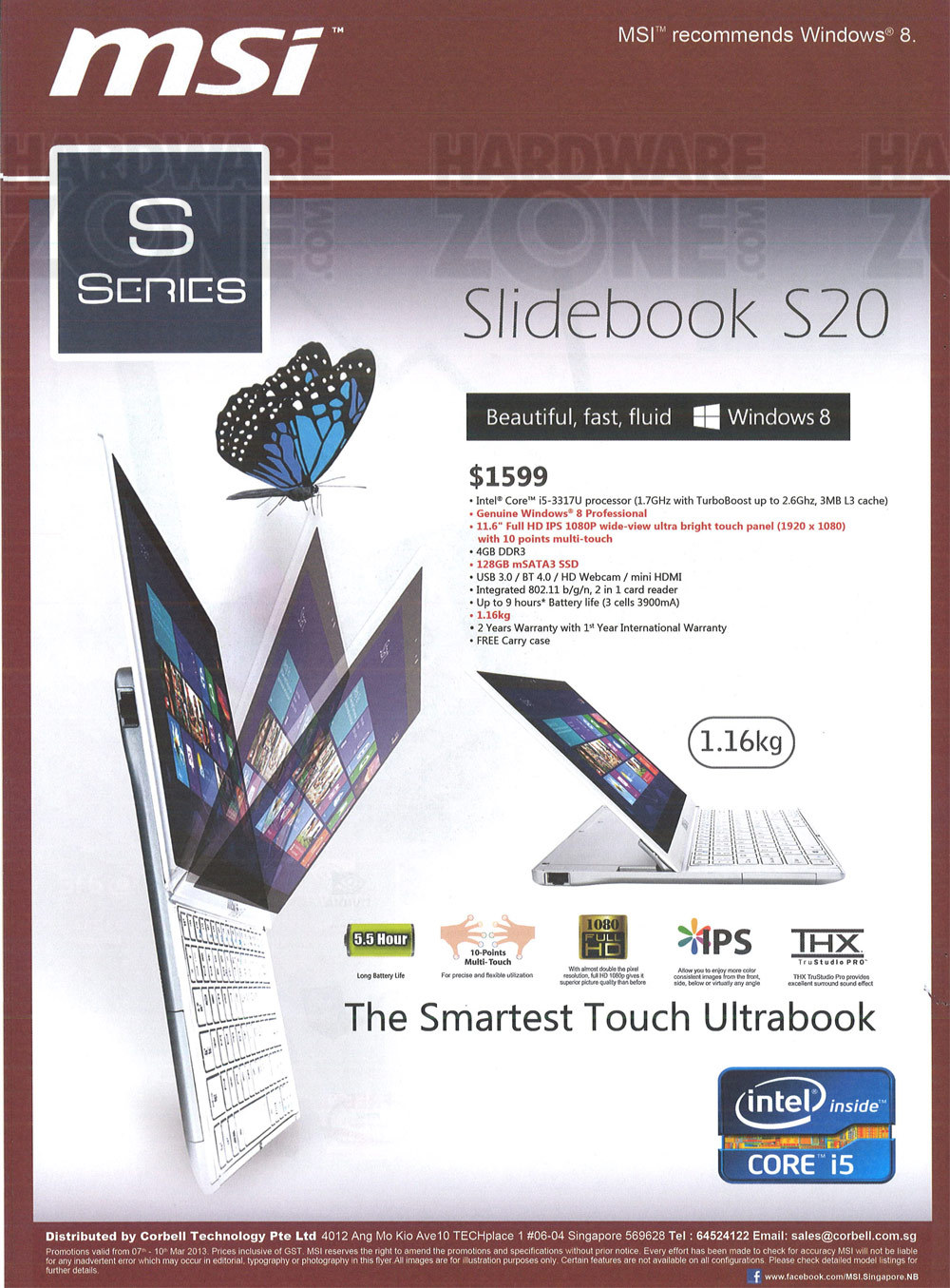 MSI Slidebook S20