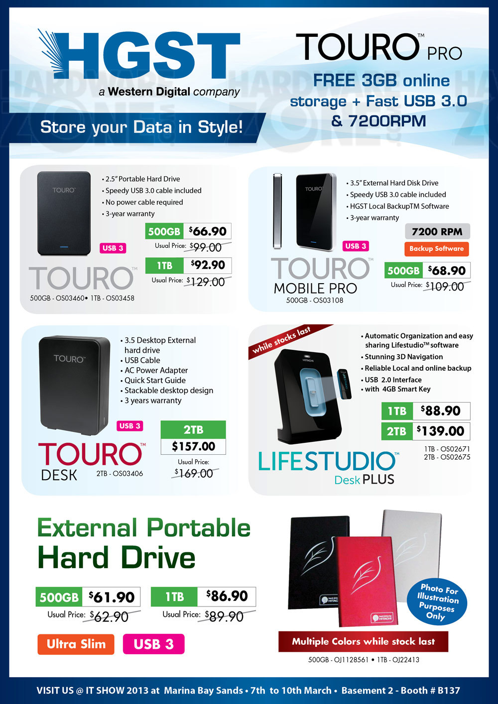 Hitachi external drives