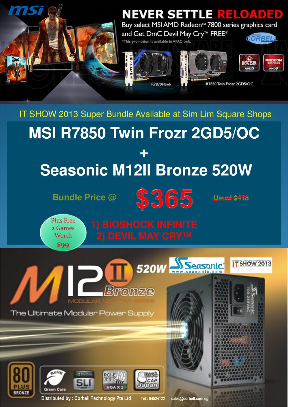 Seasonic and MSI promotion