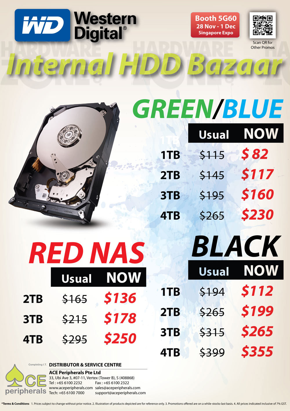 WD internal HDD