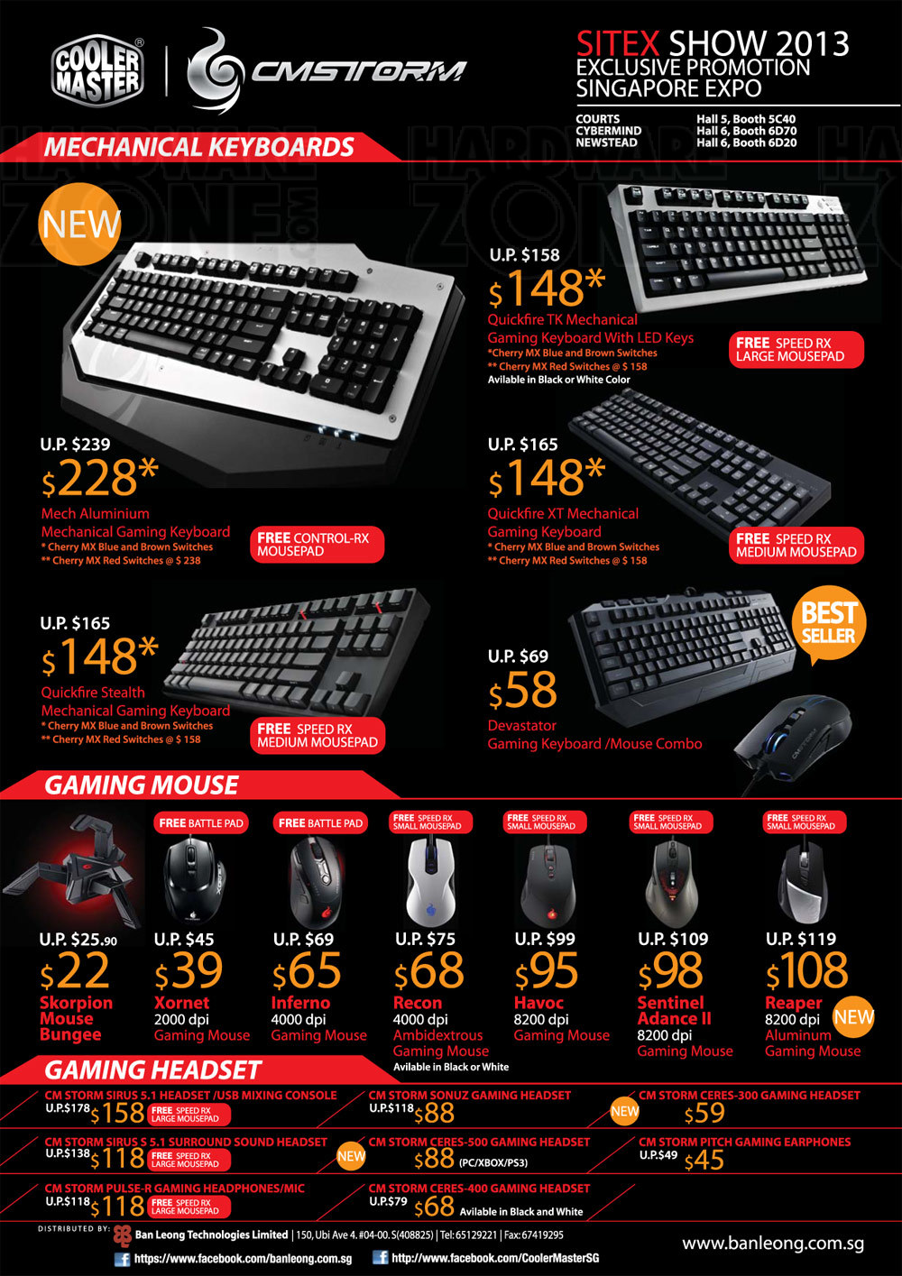 Cooler Master keyboard and mouse