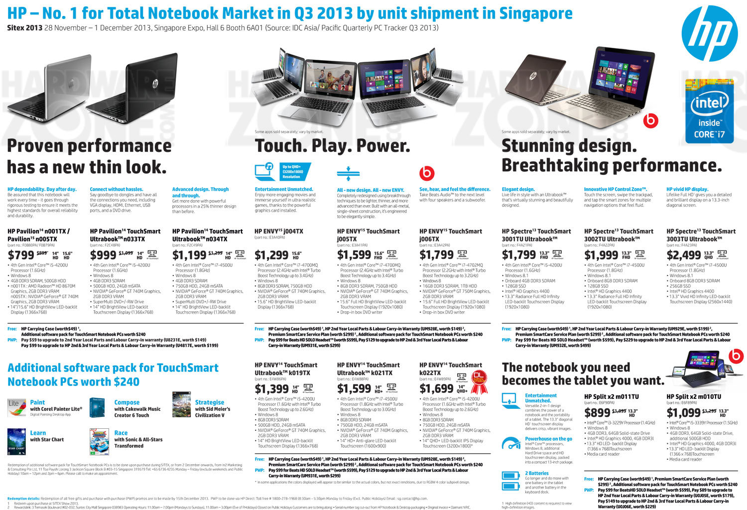 HP notebooks - page 1