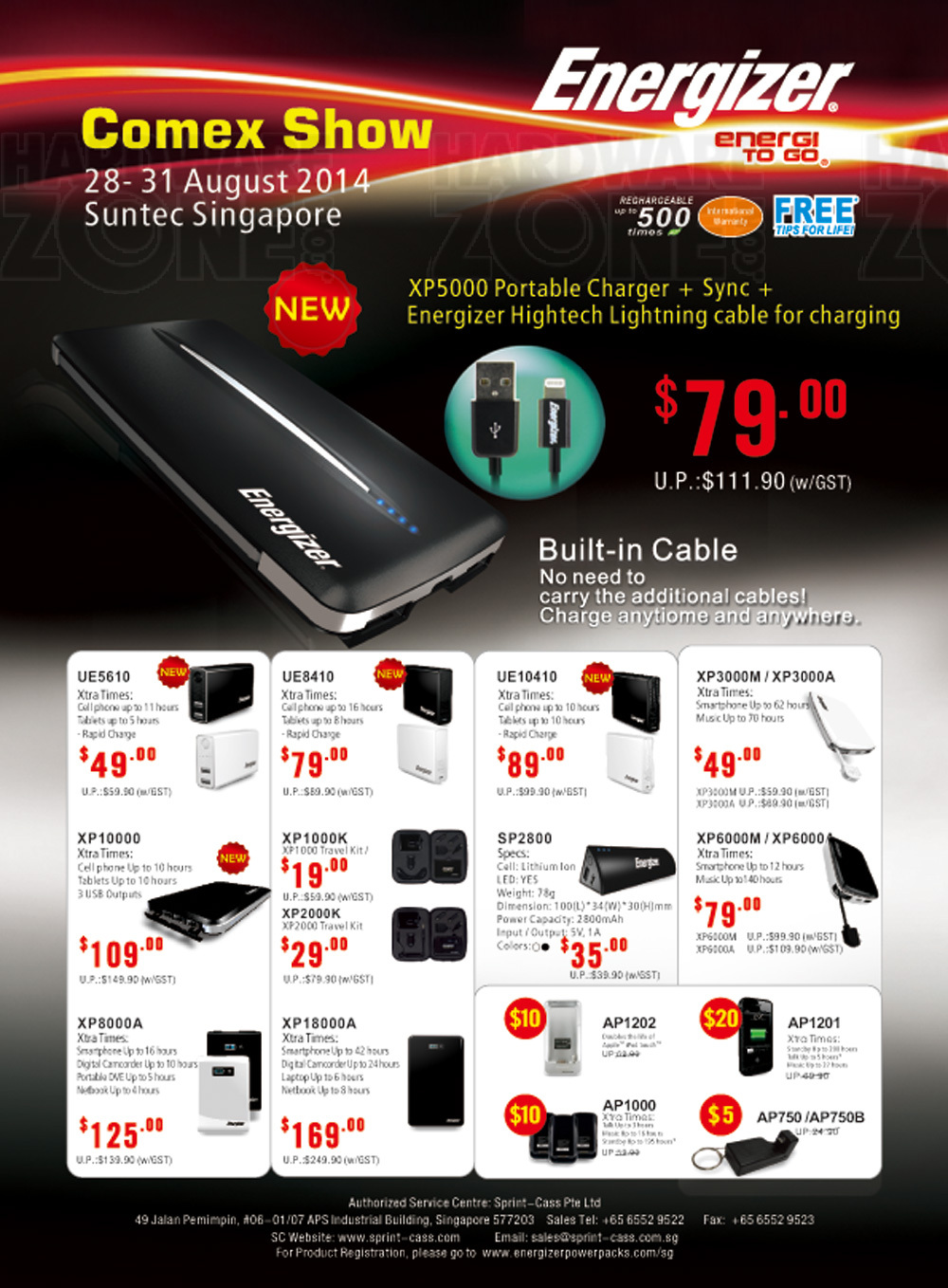 Energizer Brochures from COMEX 2014 Singapore on Tech Show ...