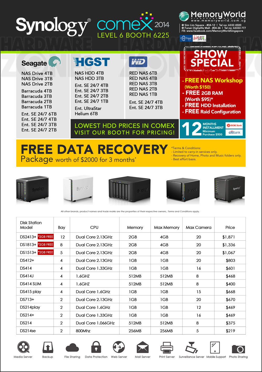 Synology - page 5 Brochures from COMEX 2014 Singapore on
