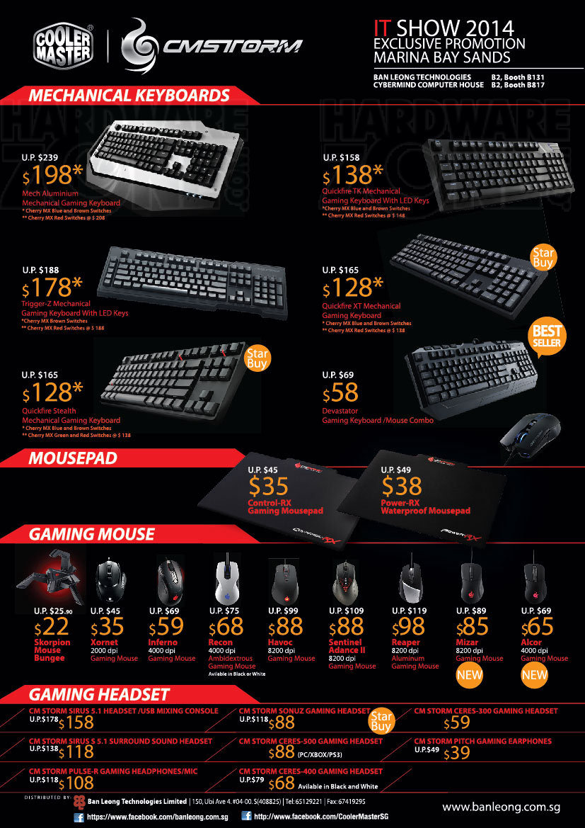 Cooler Master gaming gear