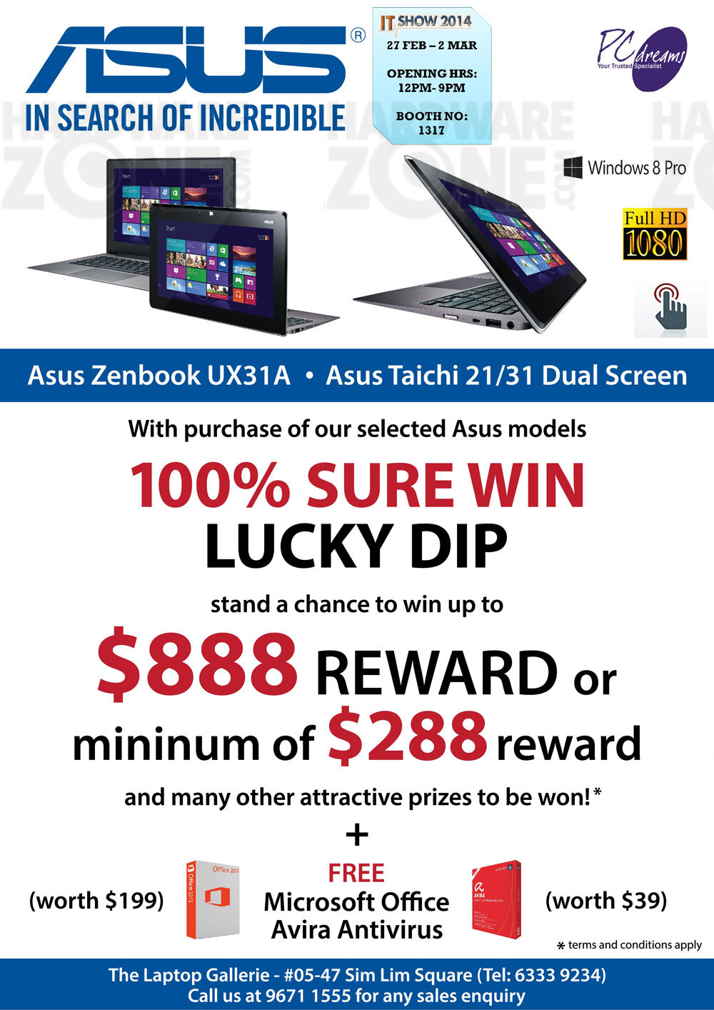 ASUS notebooks - PC Dreams offer