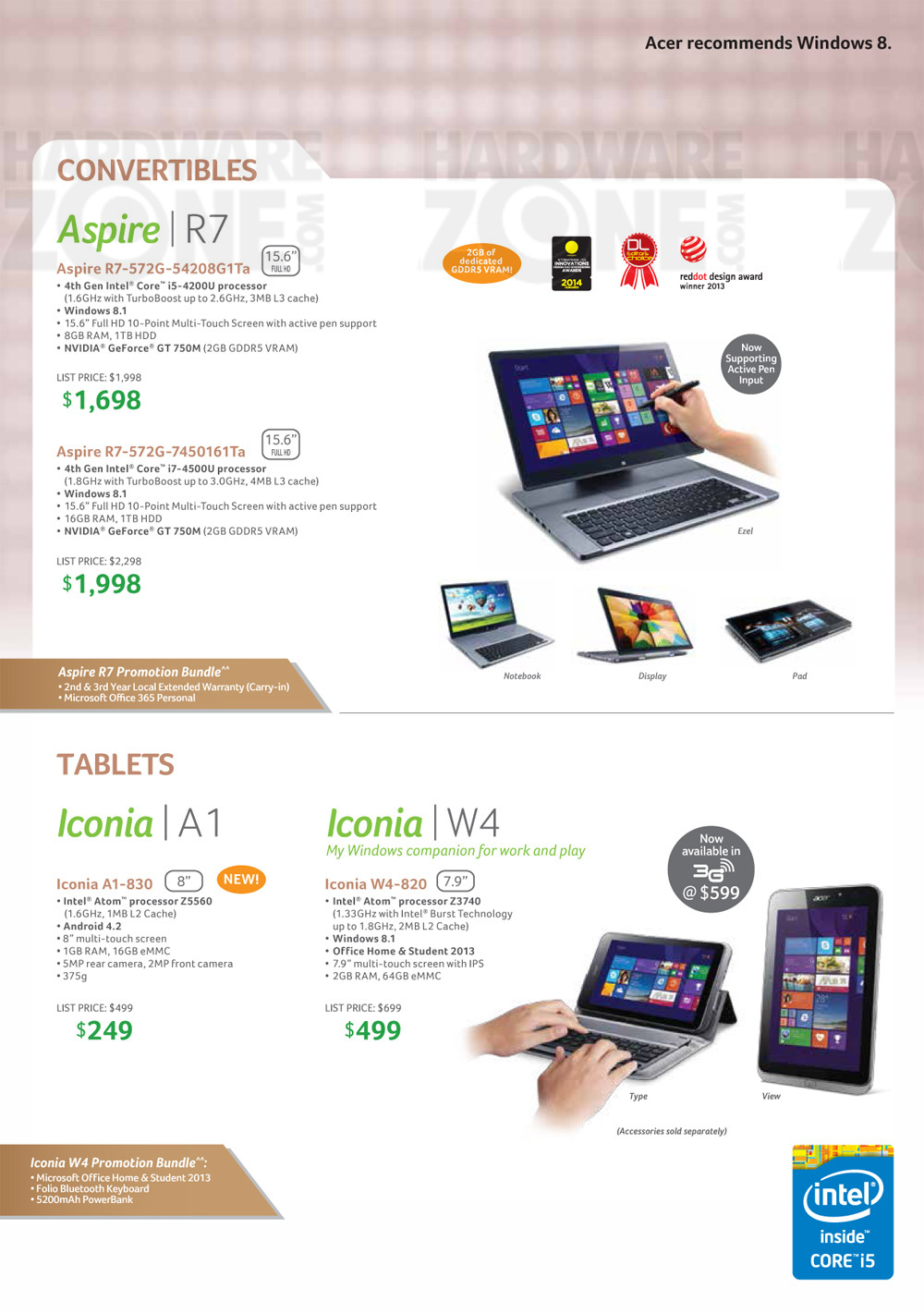 acer notebooks amp tablets brochures from sg tech show