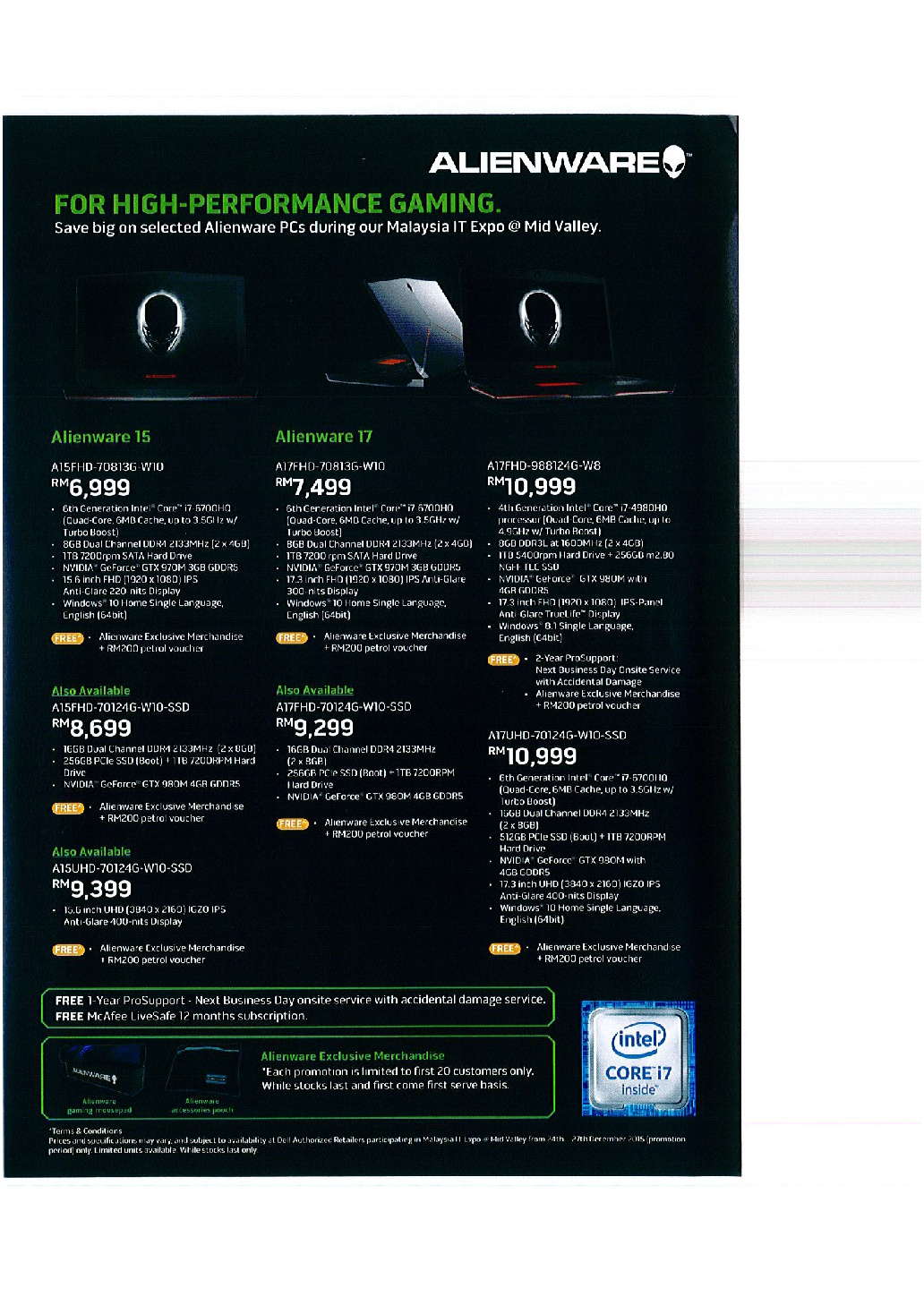 Alienware Brochures from Malaysia IT EXPO on Tech Show Portal