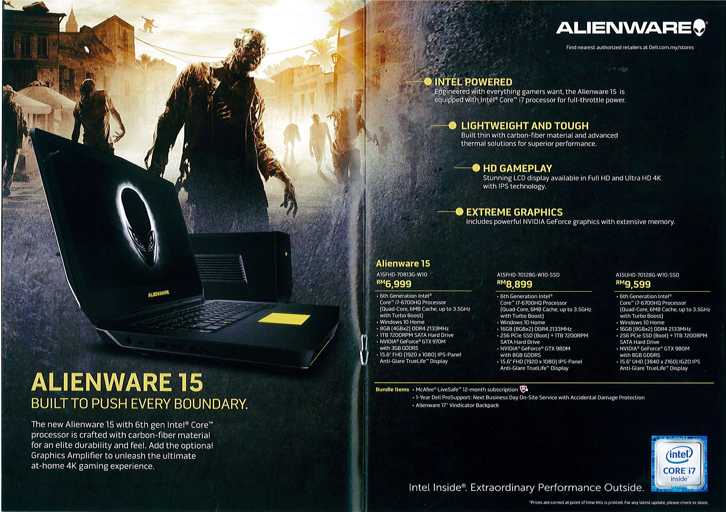 Alienware Page 3 Brochures from Malaysia MITG Expo on Tech Show