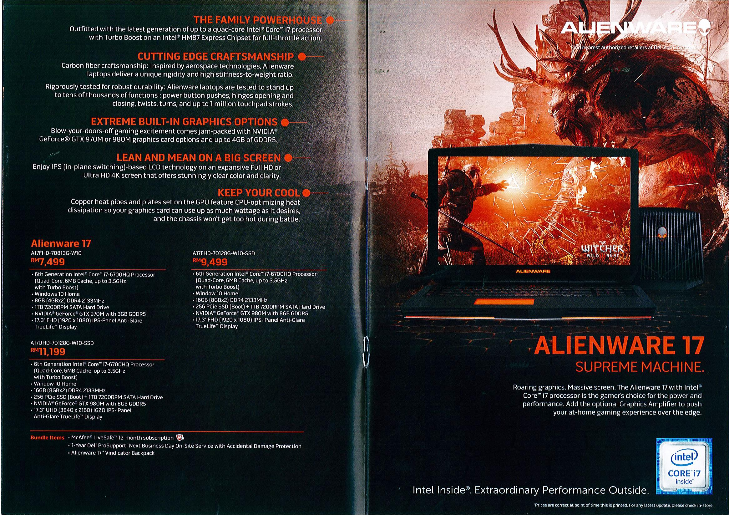 Alienware Page 4 Brochures from Malaysia MITG Expo on Tech Show