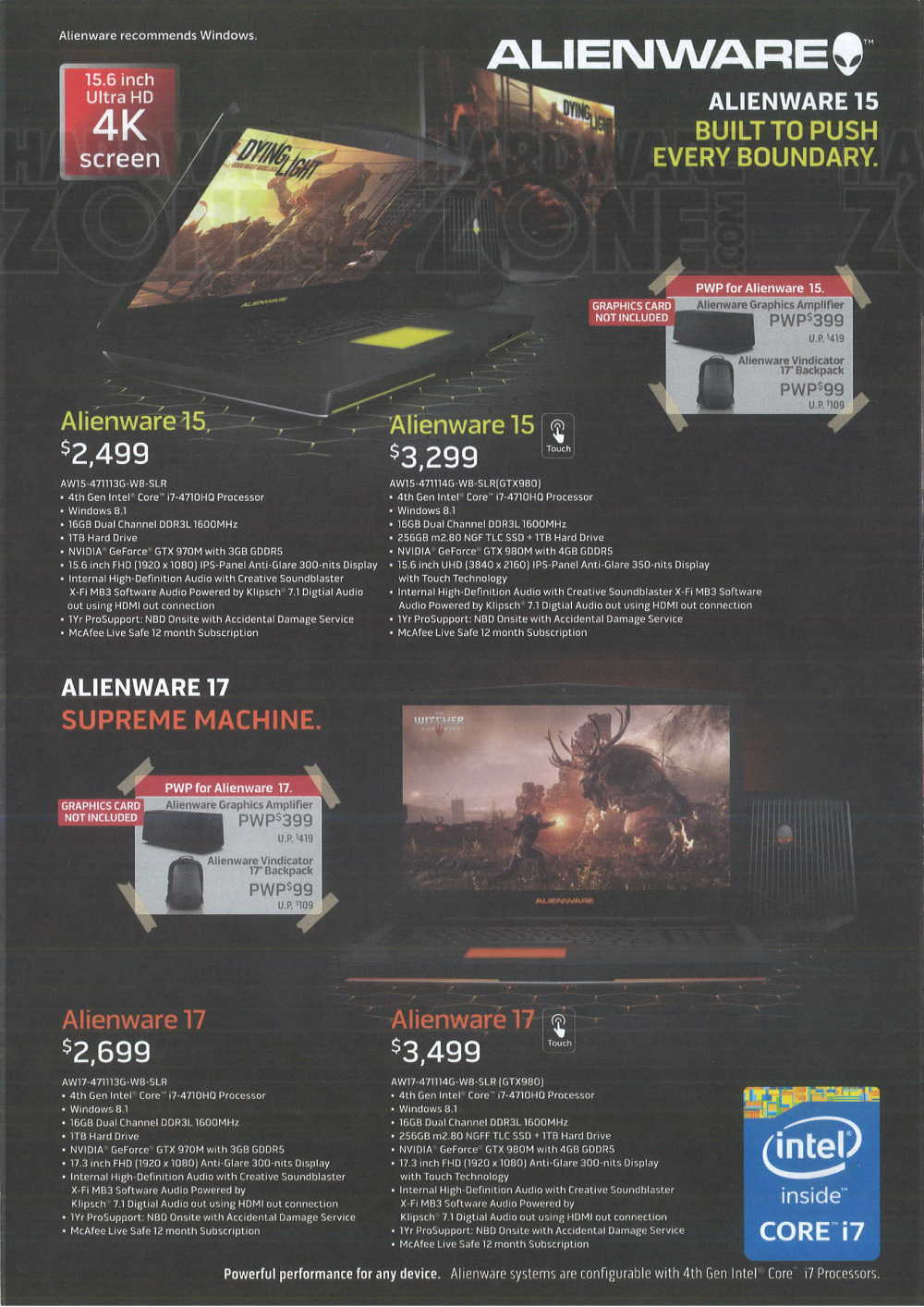 Asus gaming desktops amp monitors brochures from cee show 2016 singapore - Alienware 15 17 Brochures From Cee 2015 Singapore On Tech Show