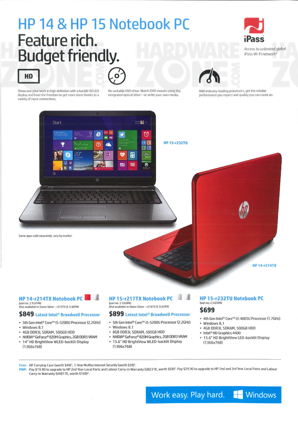HP 14/15 Notebooks Brochures from CEE 2015 Singapore on Tech Show