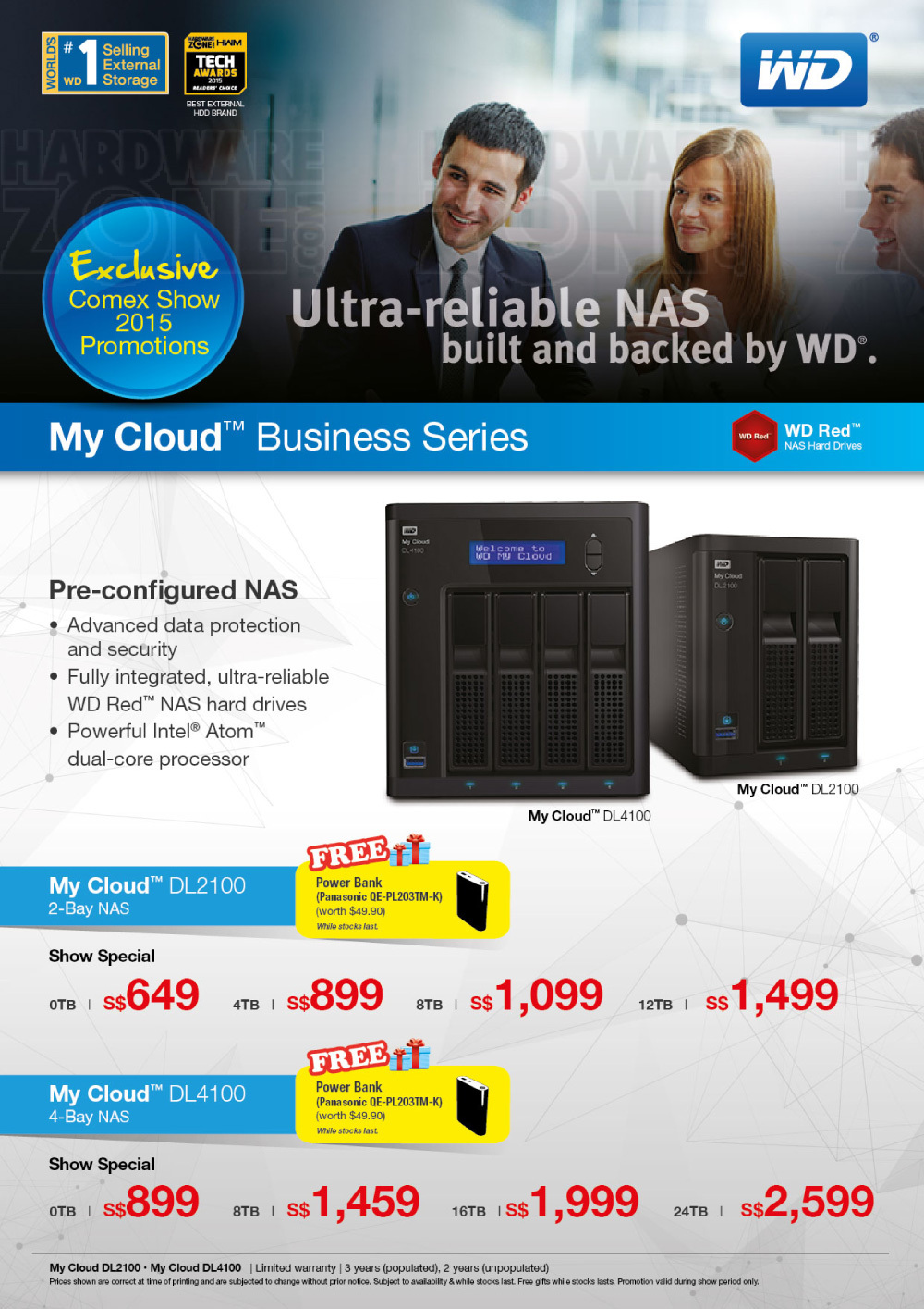 WD MyCloud Business series NAS Brochures from COMEX 2015 Singapore