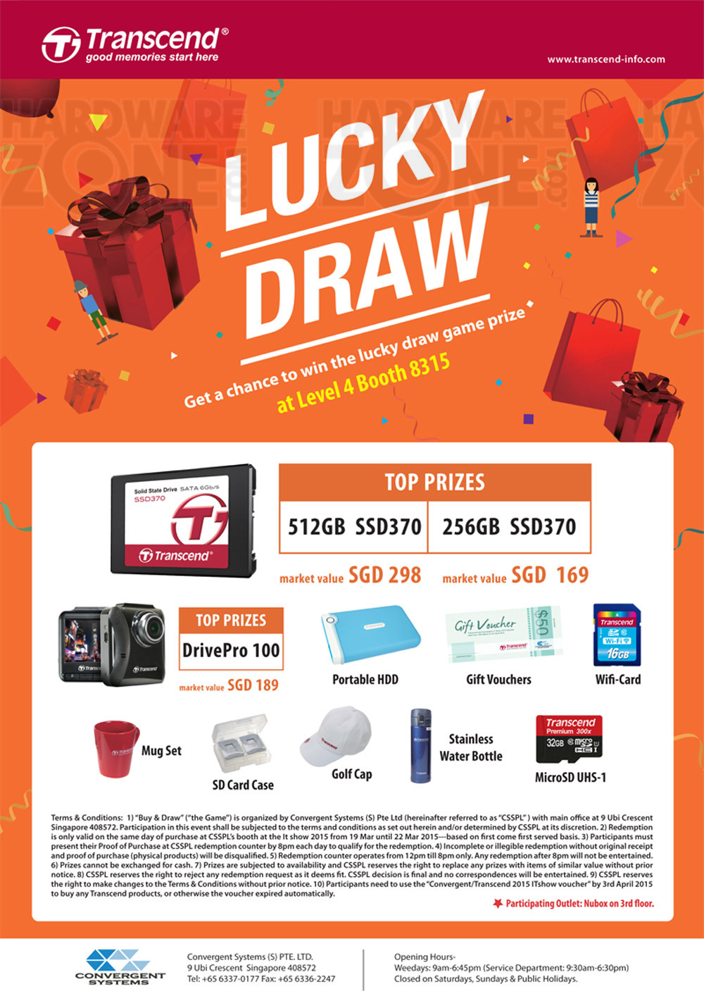 Transcend Lucky Draw Brochures From It Show 2015 Singapore On Tech