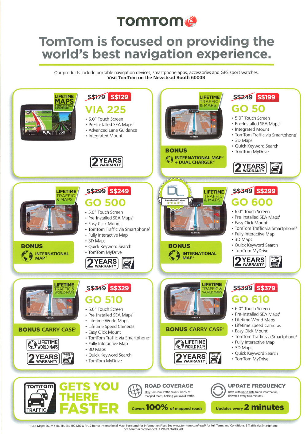 TomTom GPS Brochures from PC Show 2015 Singapore on Tech Show Portal