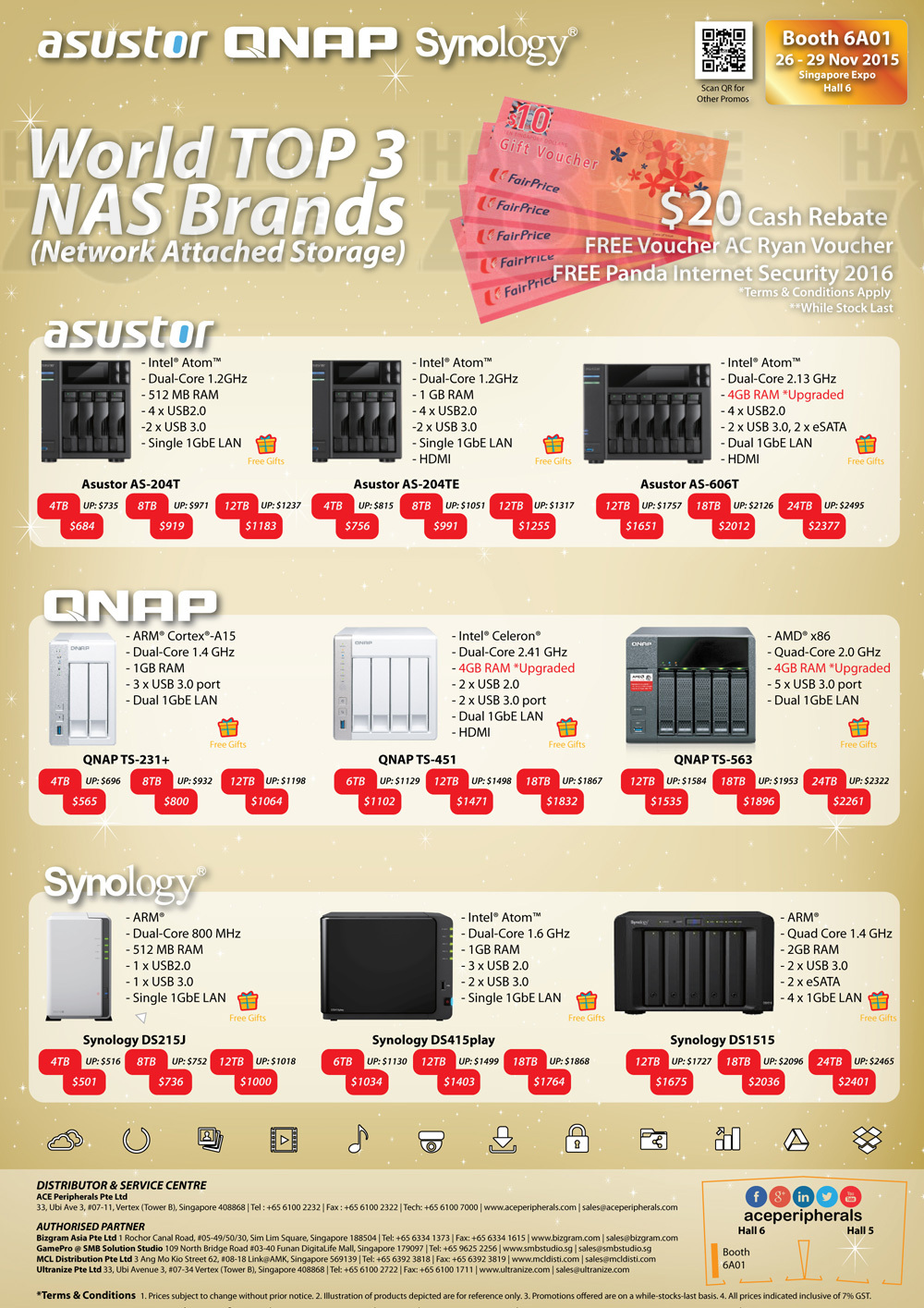 Asustor, QNAP and Synology NAS - page 1 Brochures from SITEX 2015