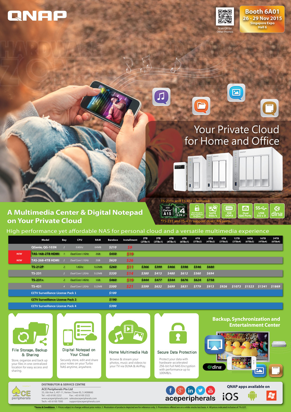 QNAP NAS - page 2 Brochures from SITEX 2015 Singapore on ...