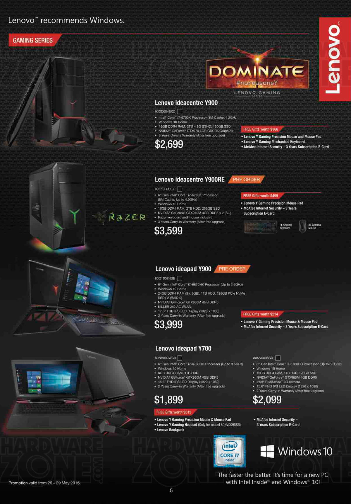 Asus gaming desktops amp monitors brochures from cee show 2016 singapore - Lenovo Flyer Pg 5