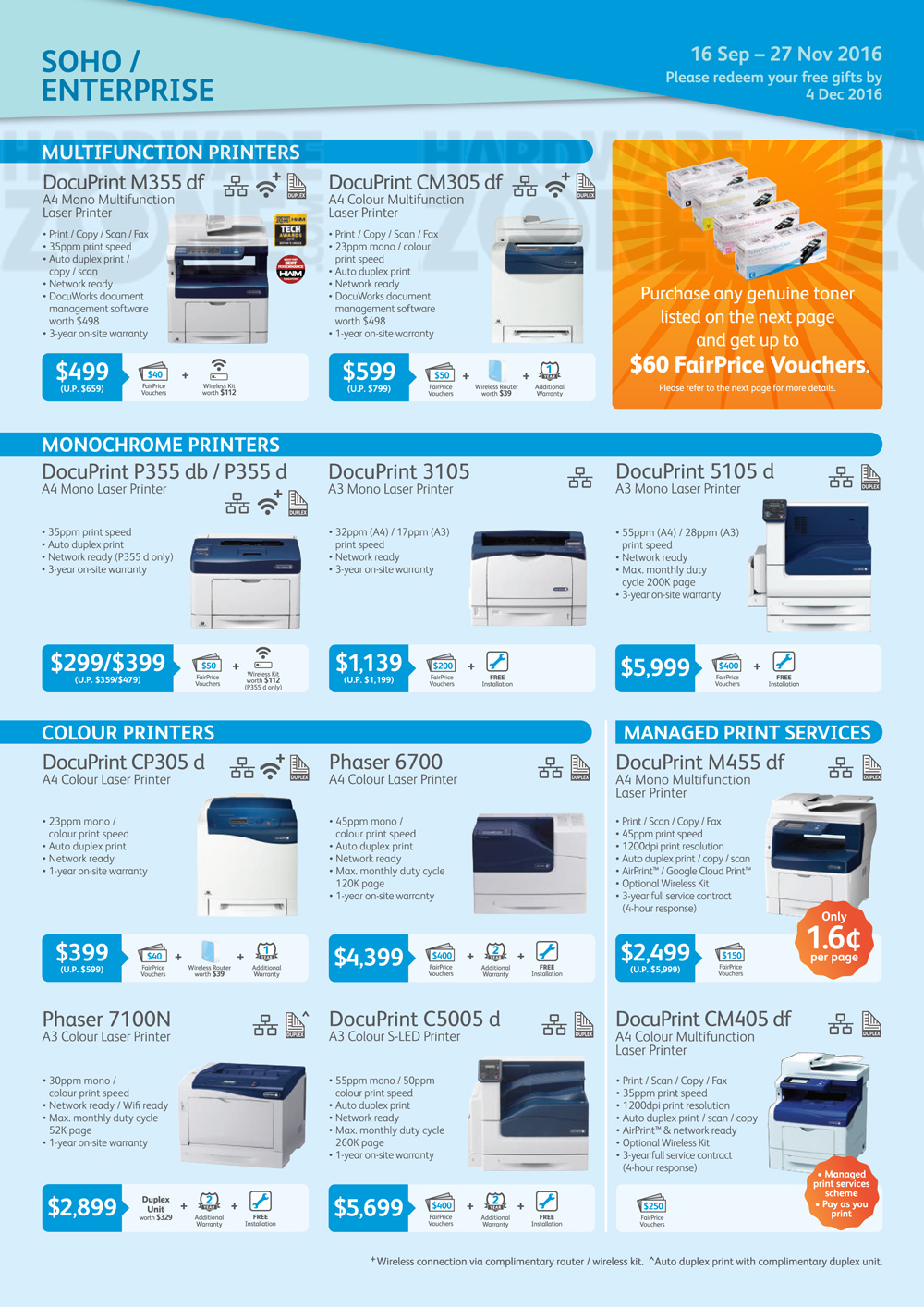 fuji xerox   pg 3 brochures from sitex 2016 singapore on