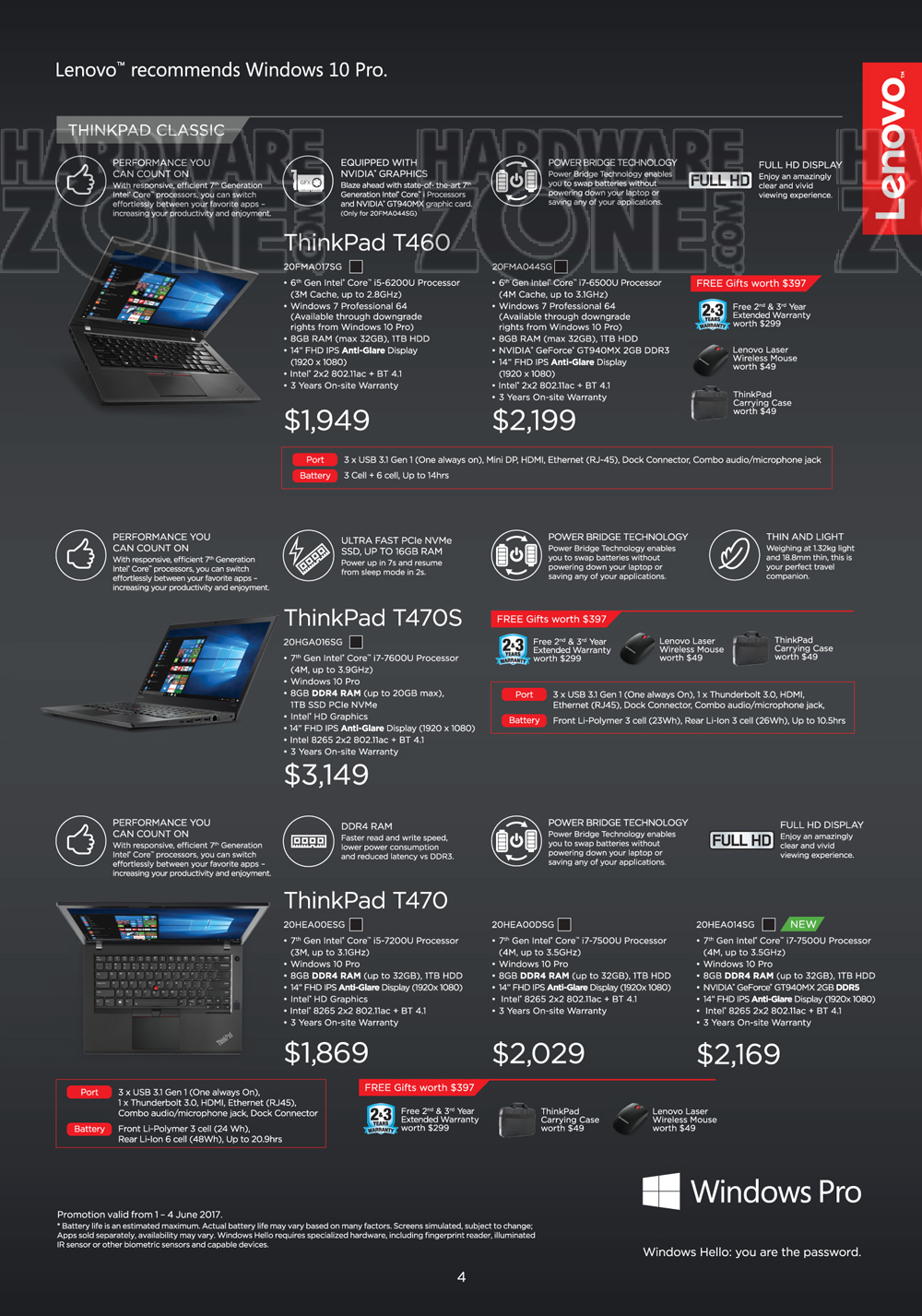 Lenovo ThinkPad - Pg 3 Brochures from CEE 2017 Singapore on