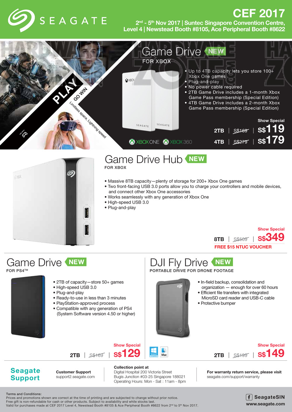 Seagate - Pg 2 Brochures from CEF 2017 Singapore on Tech