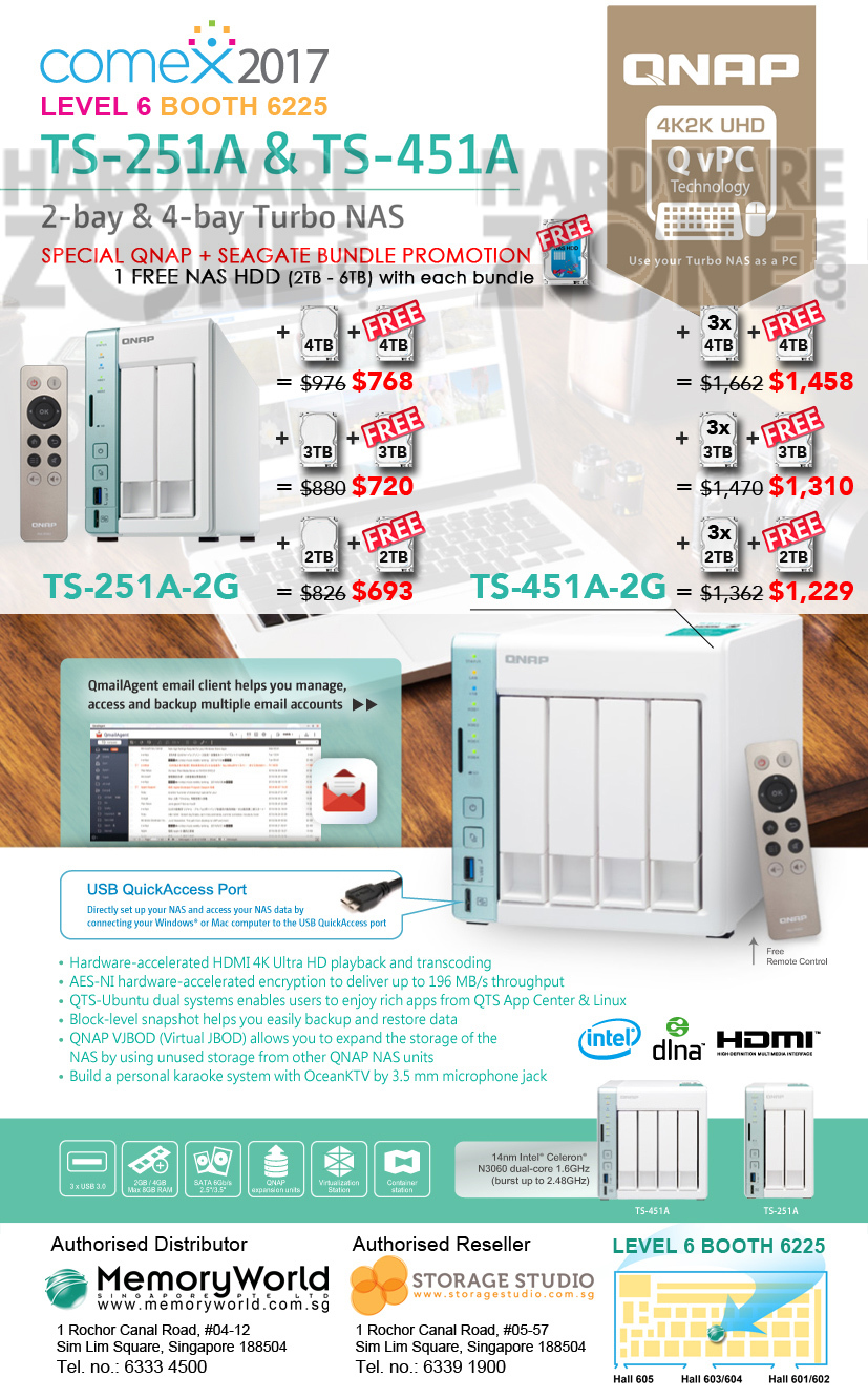 QNAP NAS - Pg 4 Brochures from COMEX SHOW 2017 Singapore on