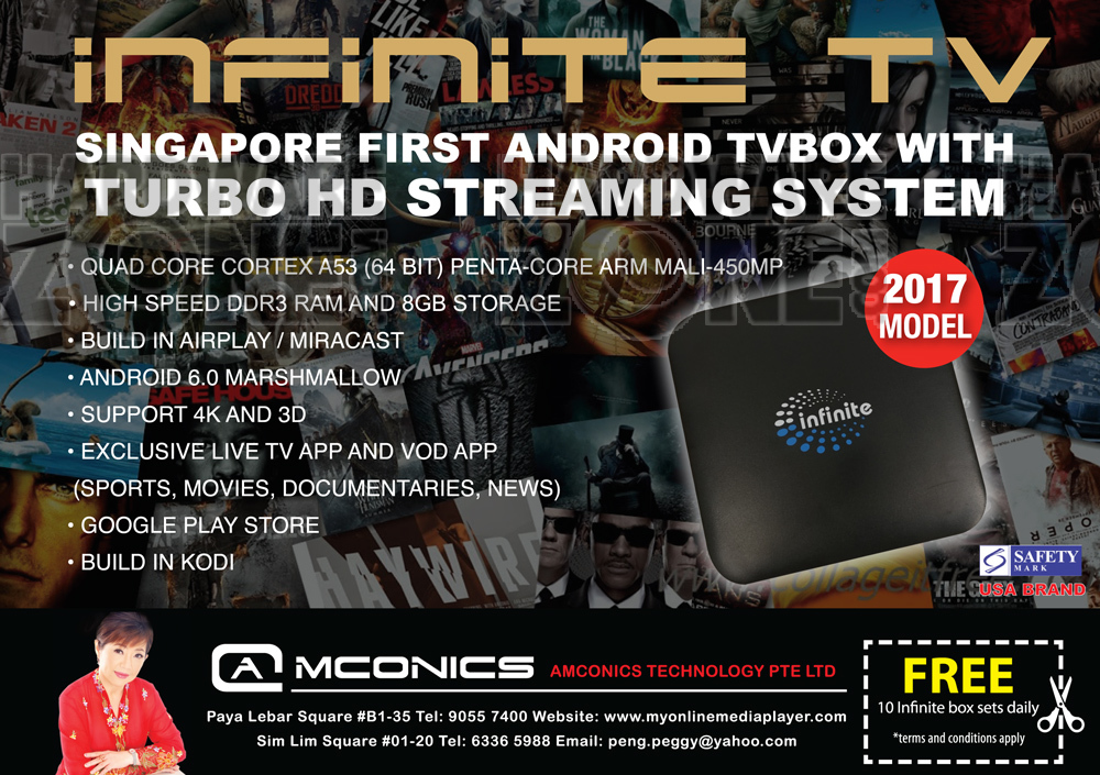 Infinite TV box Brochures from COMEX SHOW 2017 Singapore on Tech