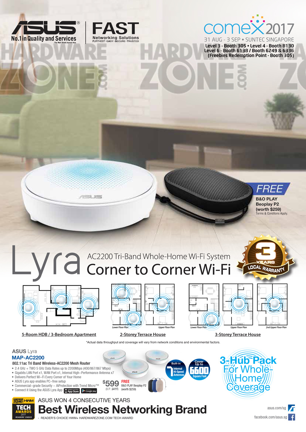 ASUS Lyra Brochures from COMEX SHOW 2017 Singapore on Tech ...