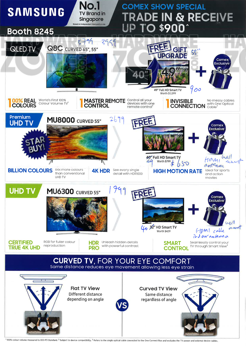 Samsung TVs - Pg 1 Brochures from COMEX SHOW 2017 Singapore