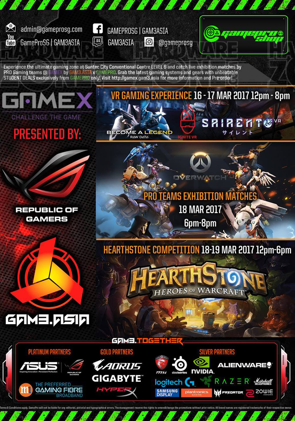 Asus gaming desktops amp monitors brochures from cee show 2016 singapore - Game Asia At Gamex