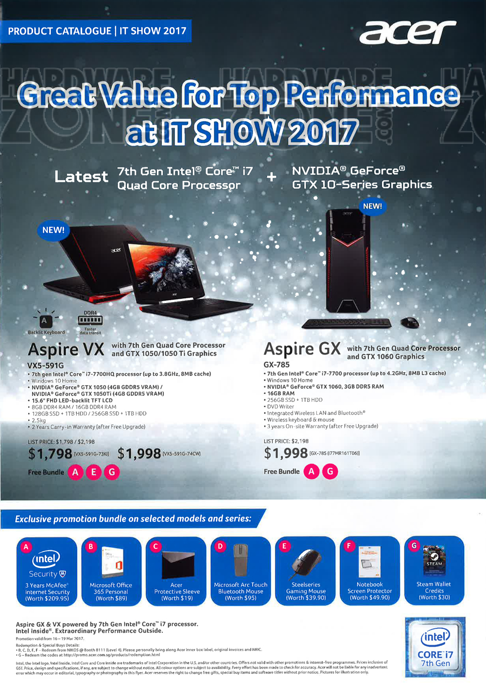 Acer - page 1 Brochures from IT Show 2017 Singapore on ...