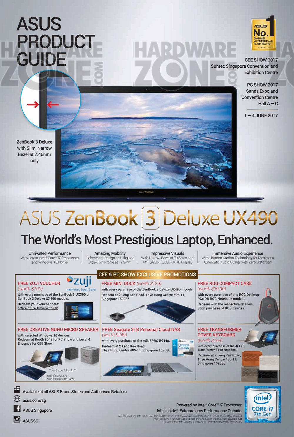 Asus gaming desktops amp monitors brochures from cee show 2016 singapore - Asus Product Guide Pg 01