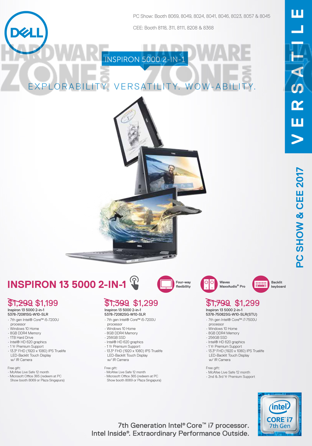 Asus gaming desktops amp monitors brochures from cee show 2016 singapore - Dell Flyer Pg 1