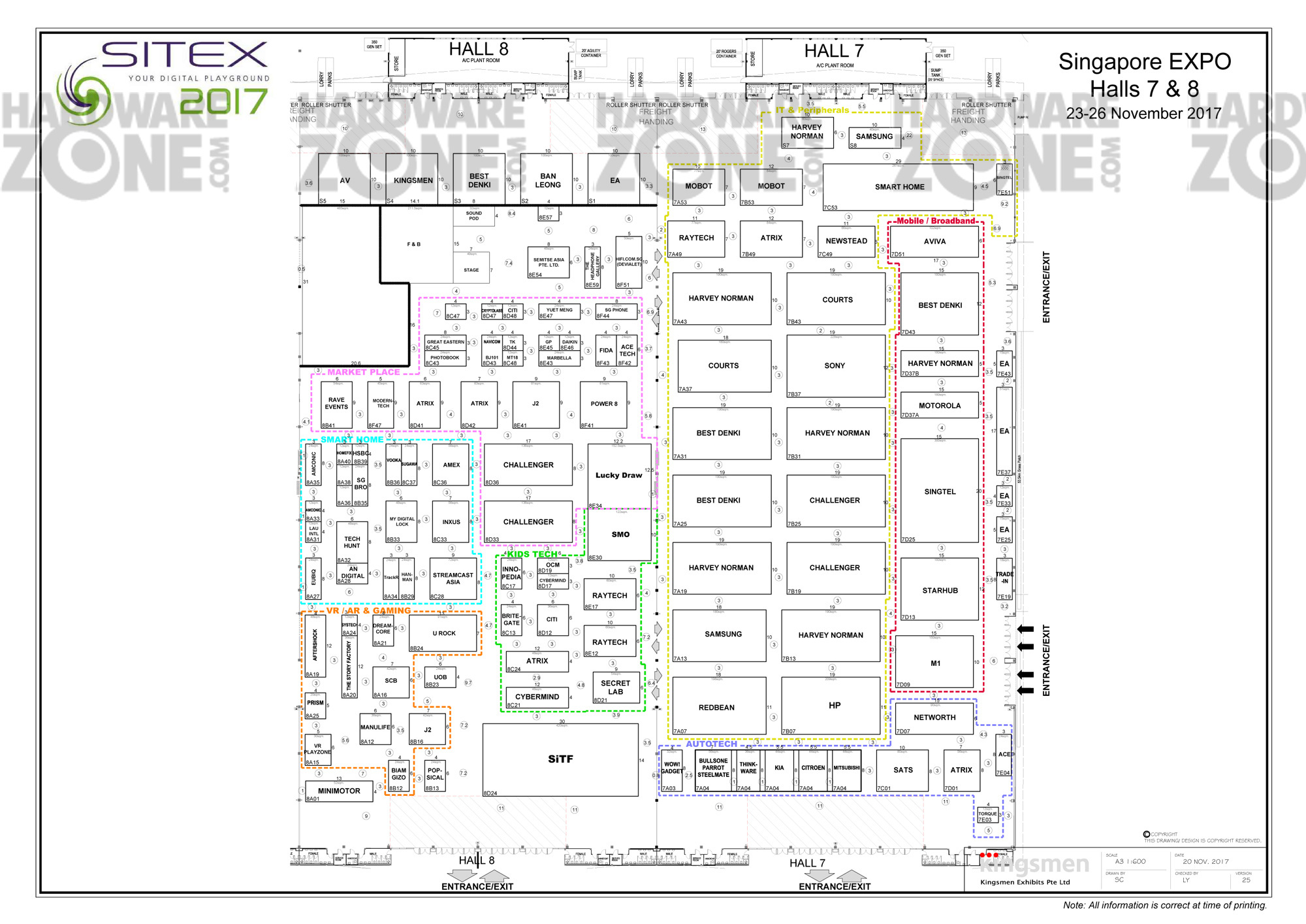 Sitex 2017 23 26 Nov Singapore Expo Halls 7 8 Hardwarezone Structured Wiring Homepro S At A Glance Floor Plan