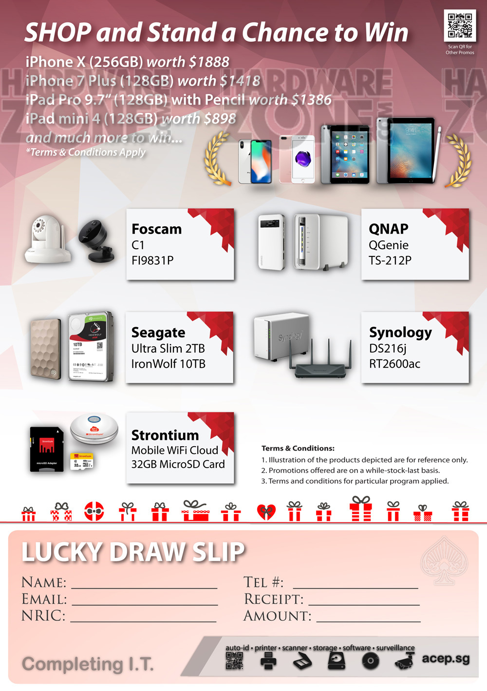 Ace Lucky Draw Brochures From Sitex 2017 Singapore On Tech Show