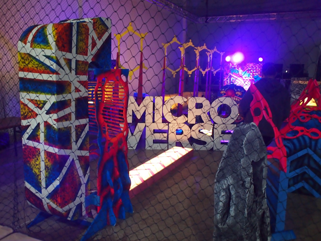 The Microverse drone obstacle course.
