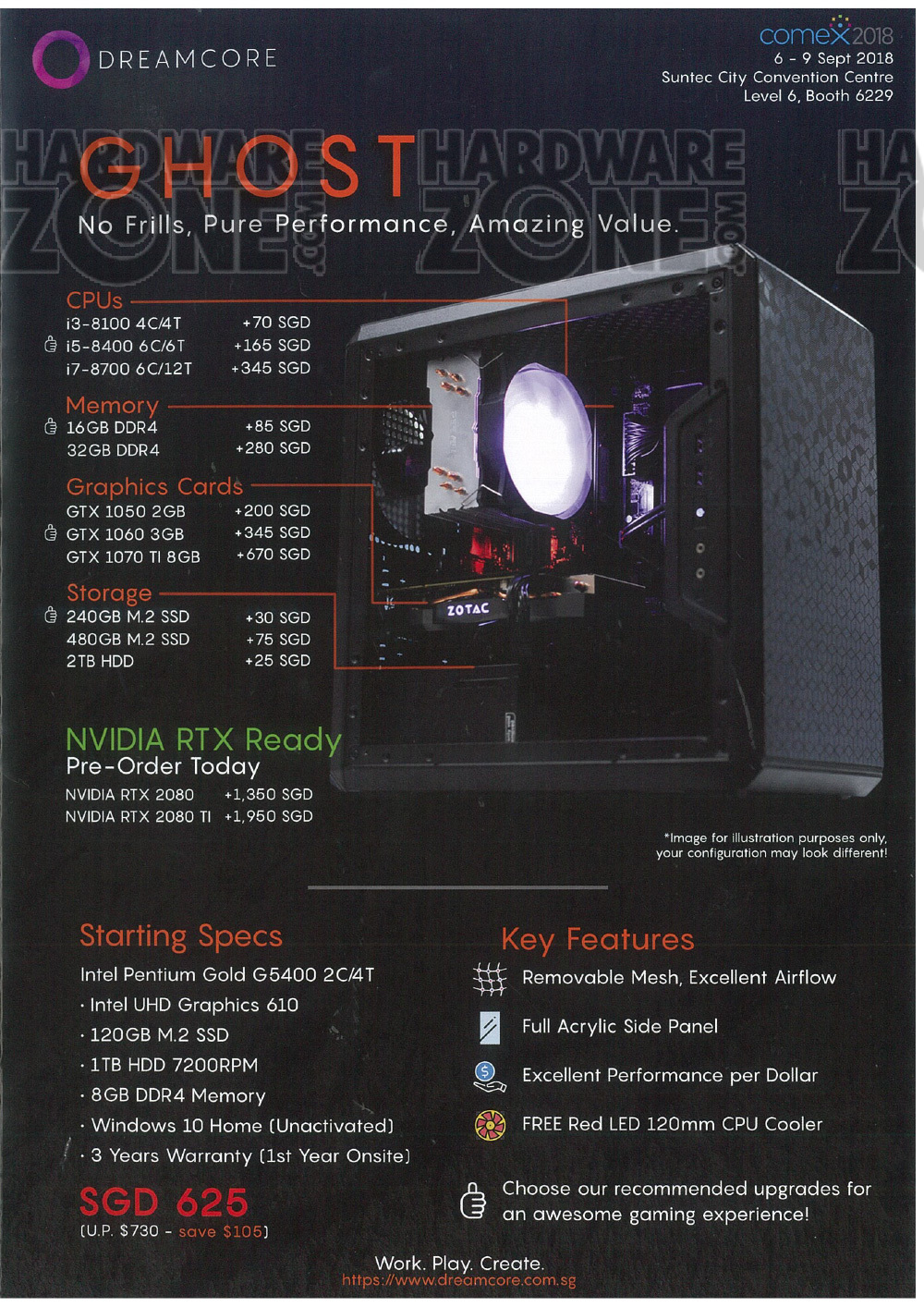 Dreamcore - page 1 Brochures from COMEX 2018 Singapore on