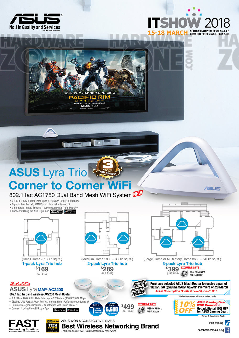 ASUS Networking - Pg 1 Brochures from IT Show 2018 Singapore