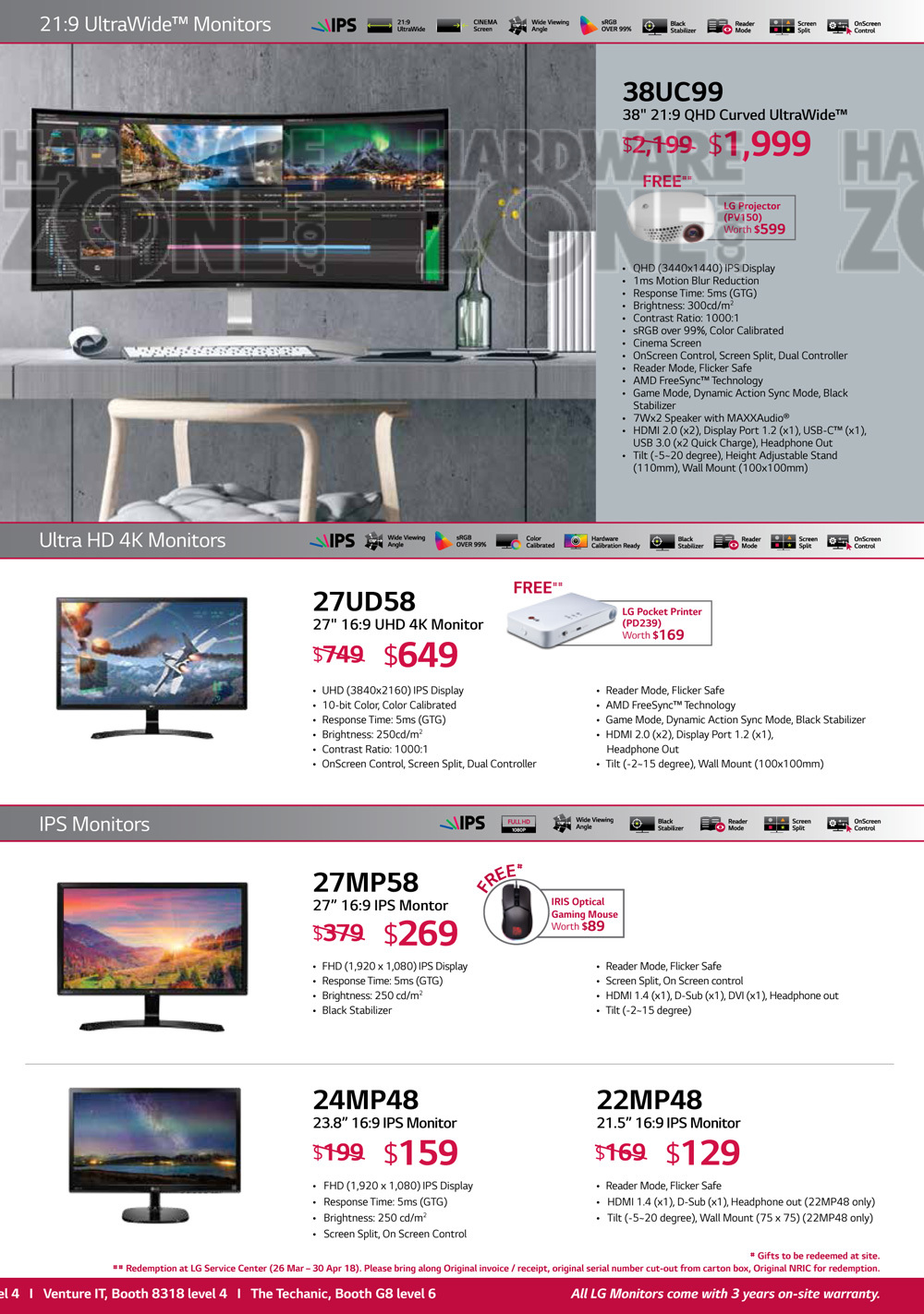LG Monitors Brochures from IT Show 2018 Singapore on Tech