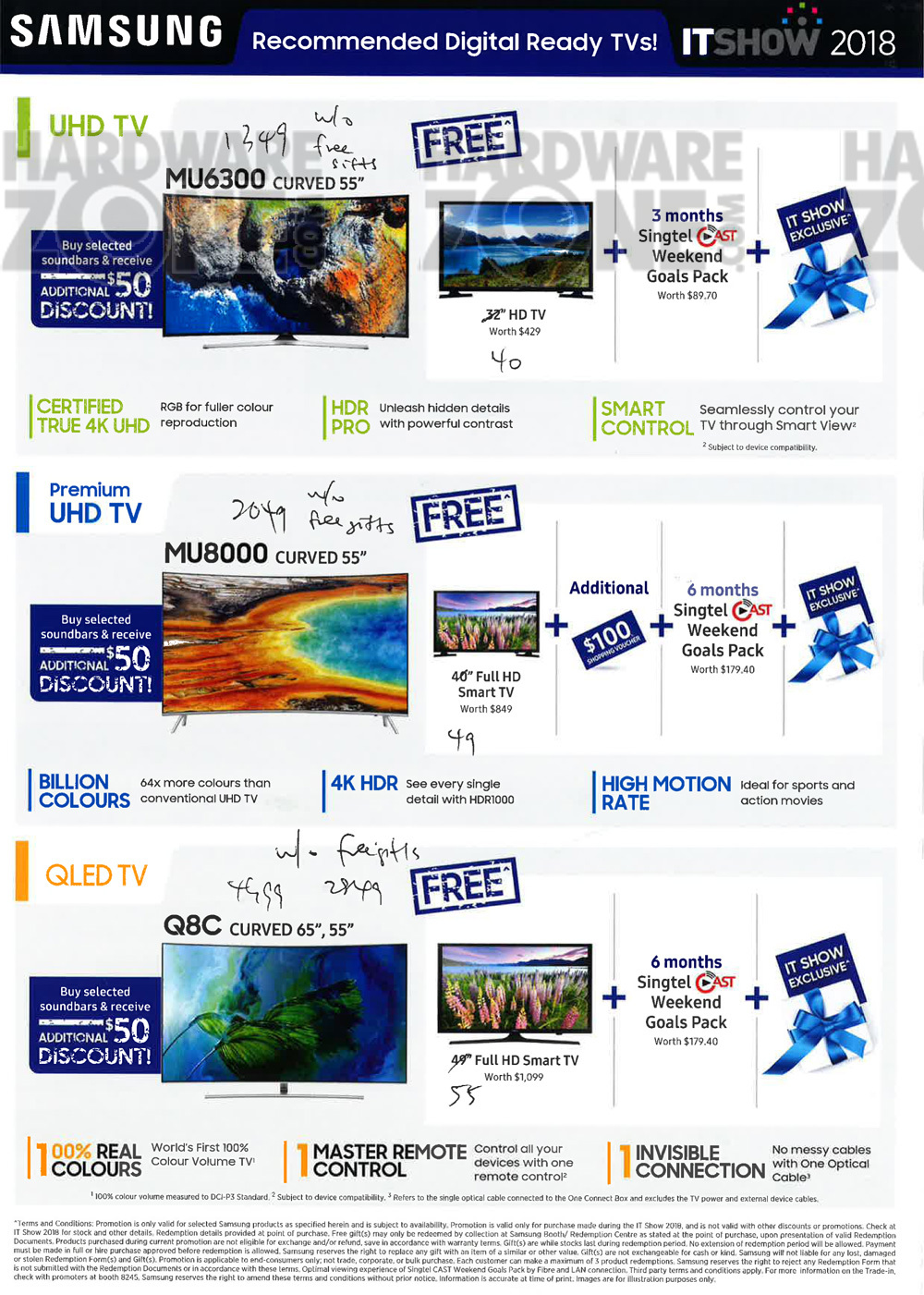Samsung TVs - Pg 4 Brochures from IT Show 2018 Singapore on