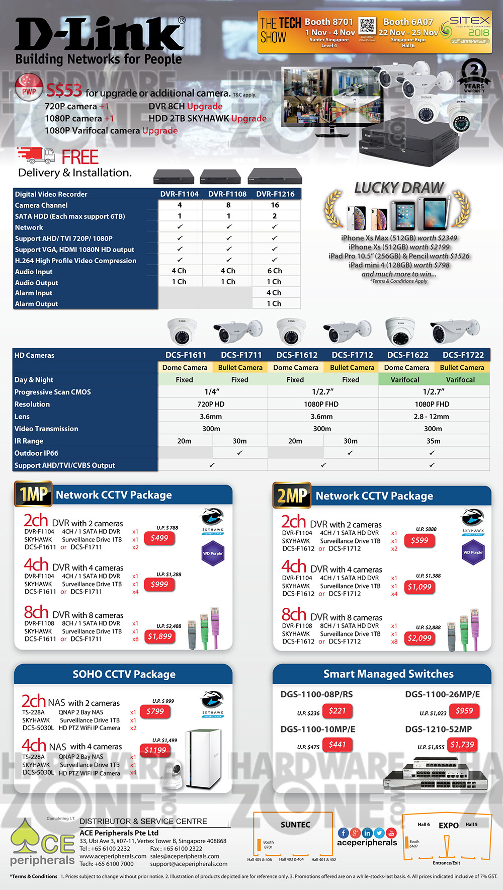 D-Link Corporate Surveillance systems Brochures from SITEX